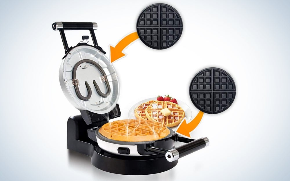 Secura Upgrade Automatic 360 Rotating Non-Stick Double Belgian Waffle Maker