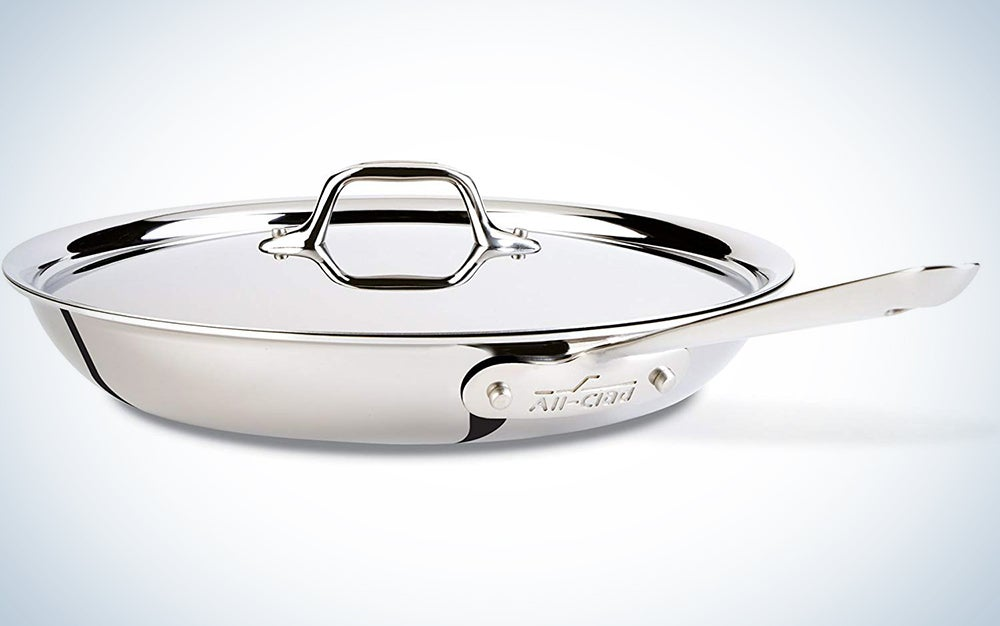 All-Clad D3 Stainless Cookware, 12-Inch Fry Pan with Lid