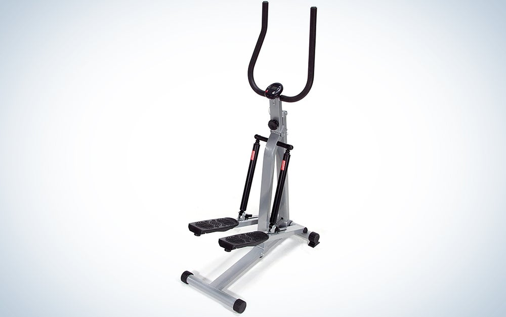 Sunny Health & Fitness Twist Stepper Step Machine with Handle Bar and LCD Monitor