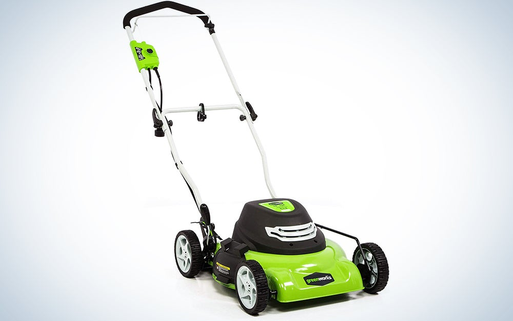 Greenworks 18-Inch 12 Amp Corded Electric Lawn Mower