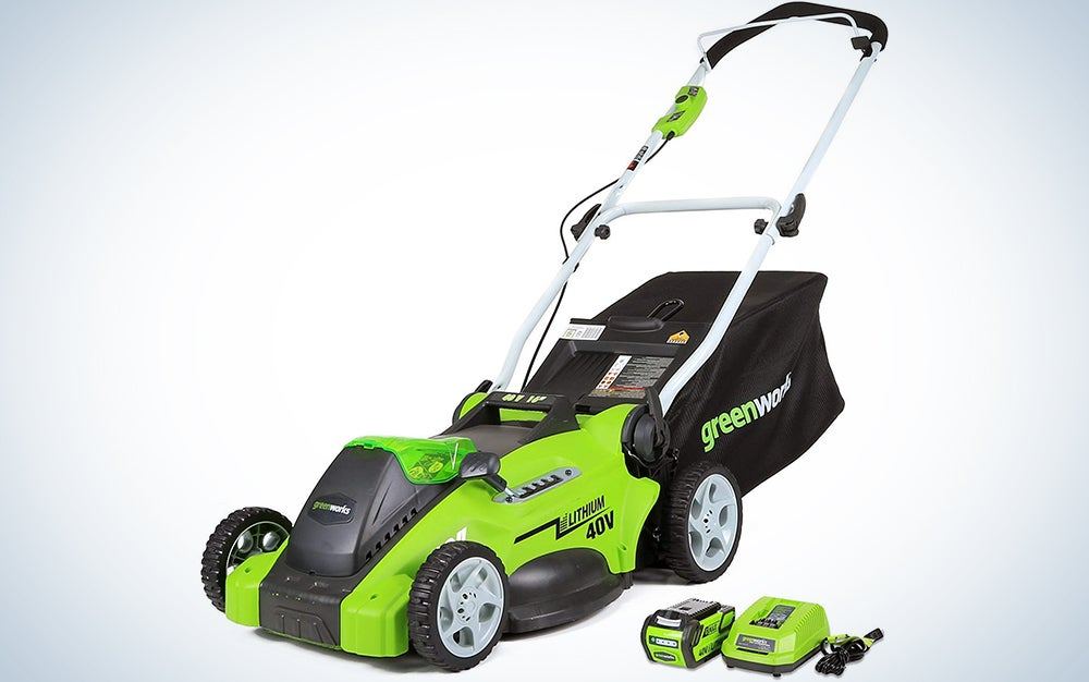 Greenworks G-MAX 40V 16'' Cordless Lawn Mower with 4Ah Battery