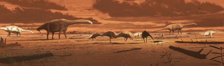 Isle of Skye dinosaurs in the mid Jurassic.