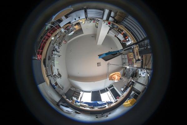 Circular fisheye lens.