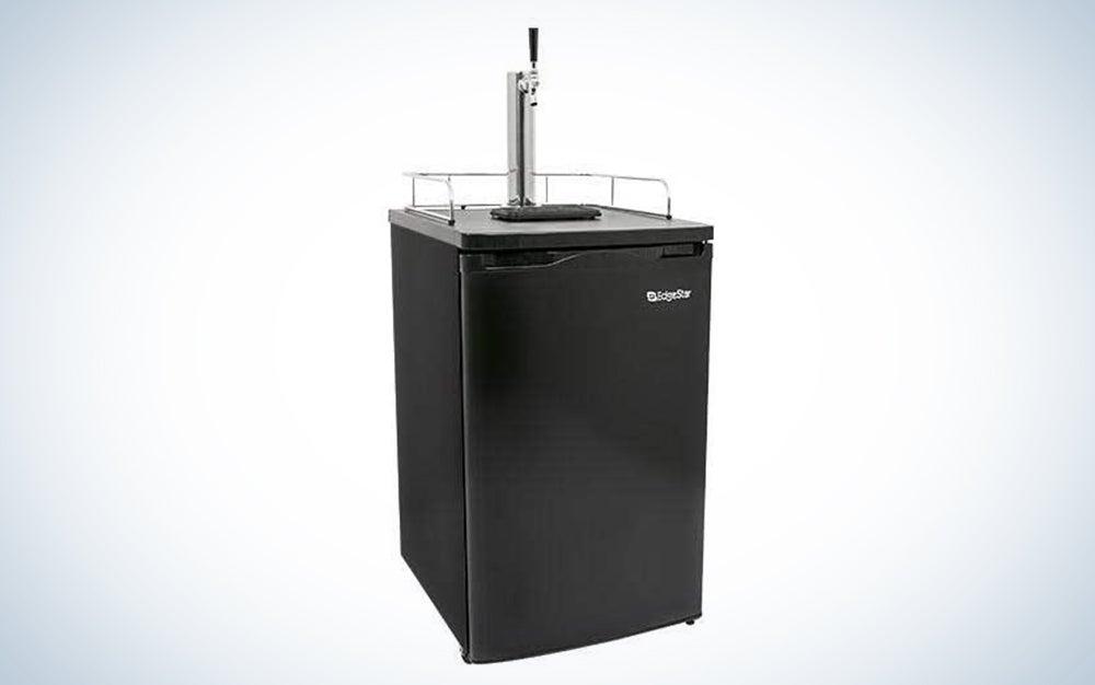 EdgeStar Full Size Built-In Black Stainless Steel Kegerator