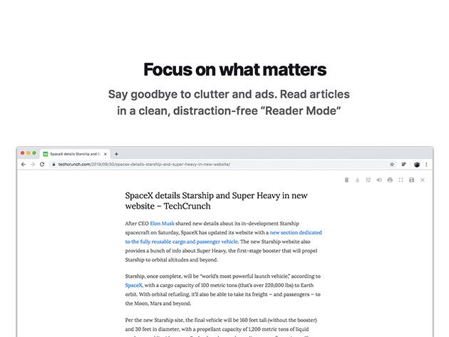 Reader Mode Pro: Chrome Reading Extension
