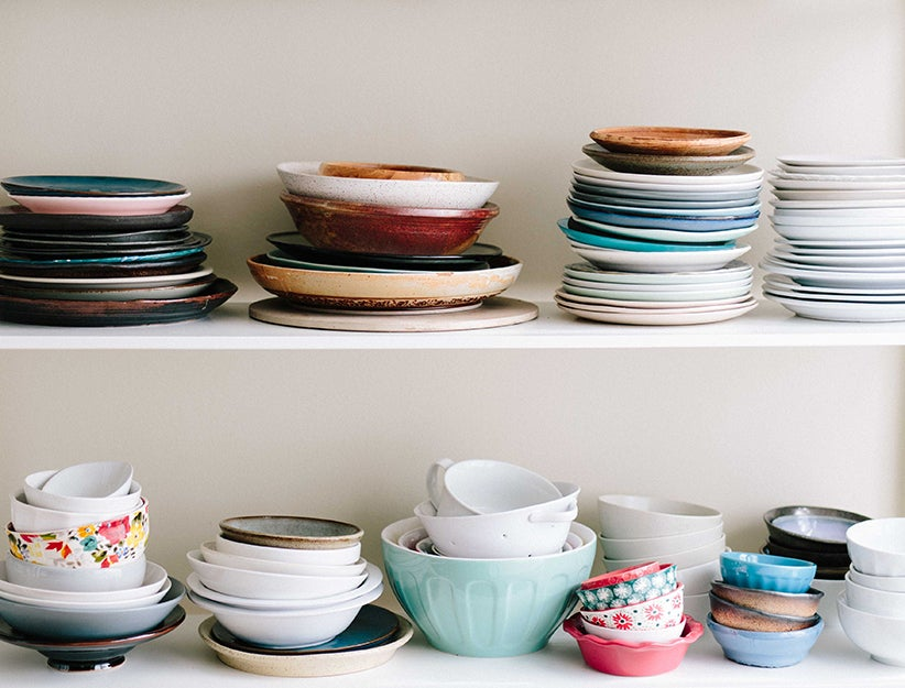 stacks of dishes