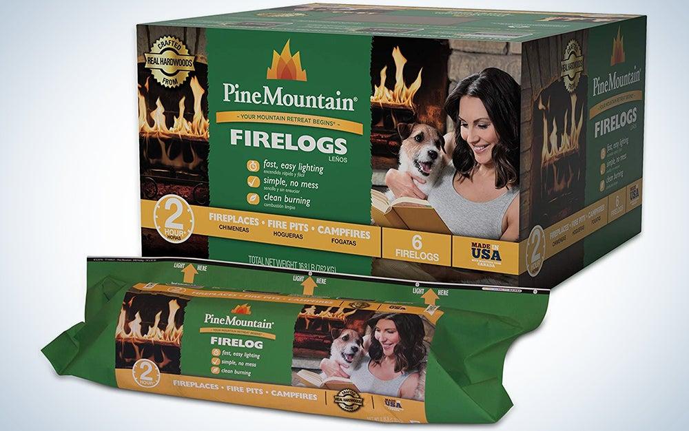 Pine Mountain 6PK 2HR Trad Fire Log, 6 Firelogs, 2-Hour Burn Time, 6 Count