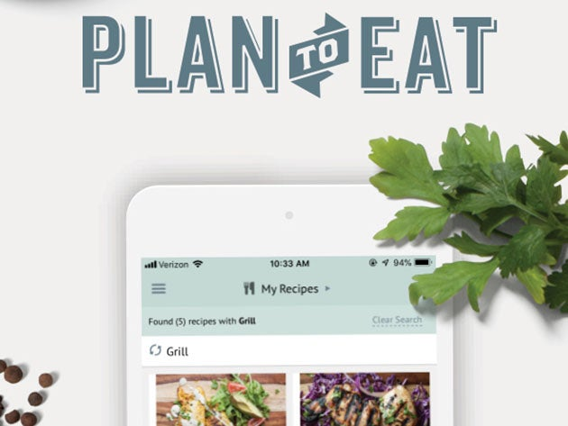 Plan to Eat Meal & Grocery List Planner: 1-Yr Subscription