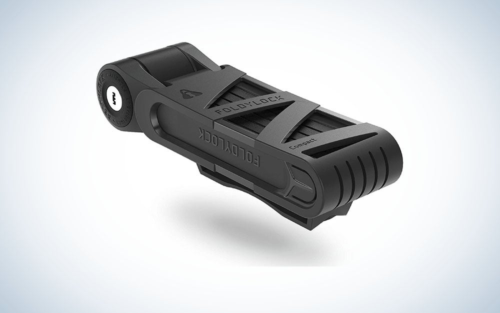 FOLDYLOCK Compact Bike Lock Black | Extreme Bike Lock - Heavy Duty Bicycle Security Chain Lock Steel Bars