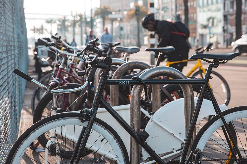 bikes locked up