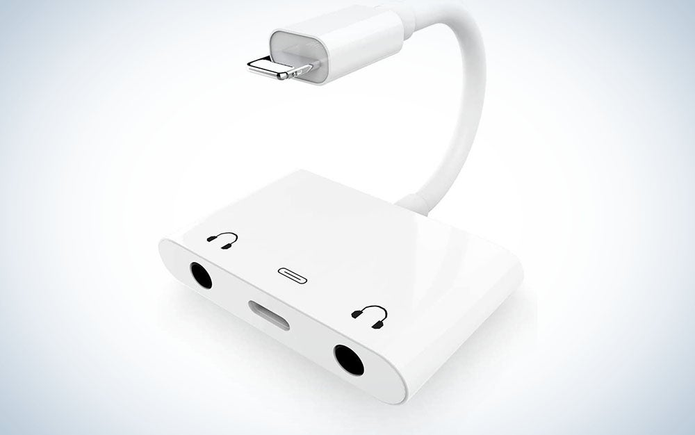 3-in-1 Dual Headphone Jack Adapter