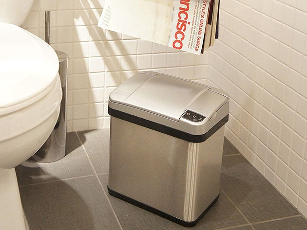 iTouchless 13-Gallon & 2.5-Gallon Automatic Sensor Trash Cans