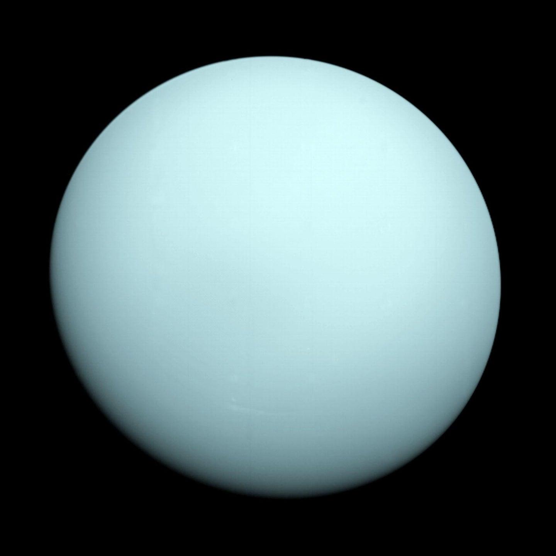 Voyager 2's image of Uranus.