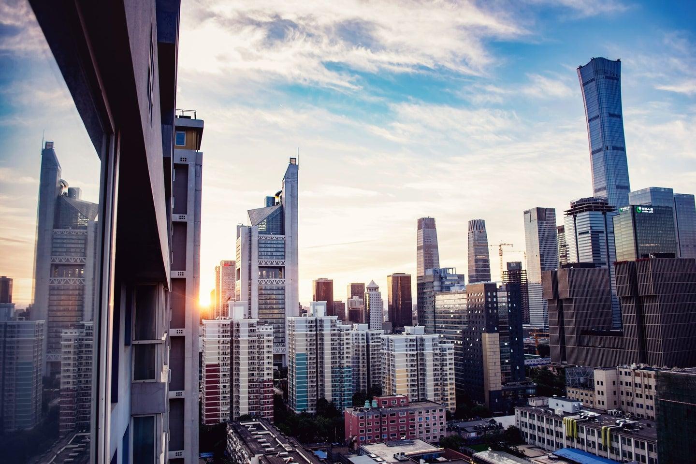 beijing skyline clear skies