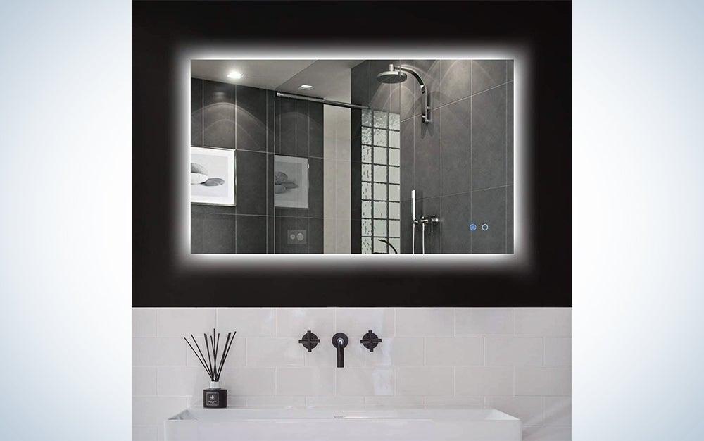 Keonjinn 40 x 24-Inch Backlit Bathroom Mirror