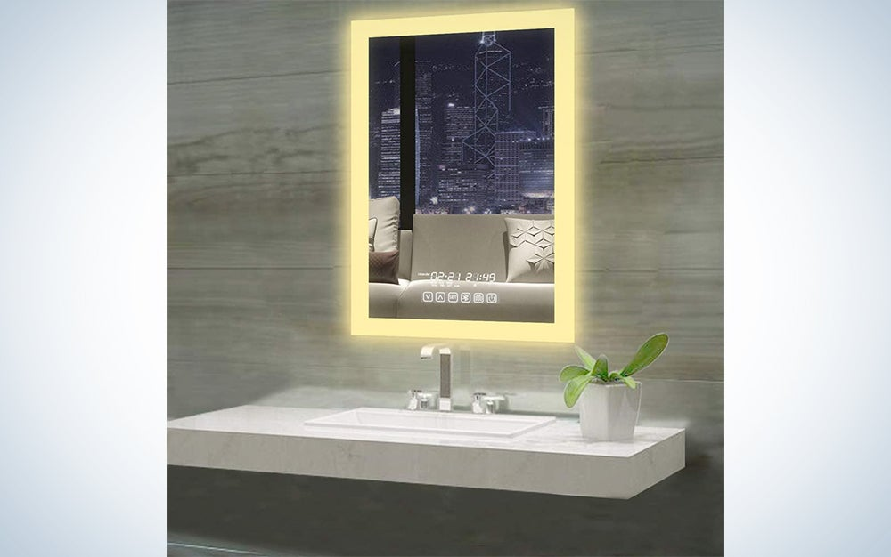 Gesipor Vertical LED Backlit Bathroom Mirror