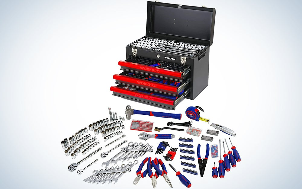 Workpro W009044A 408-Piece Mechanics Tool Set