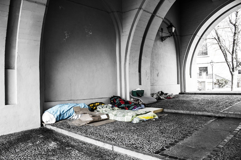 homeless area