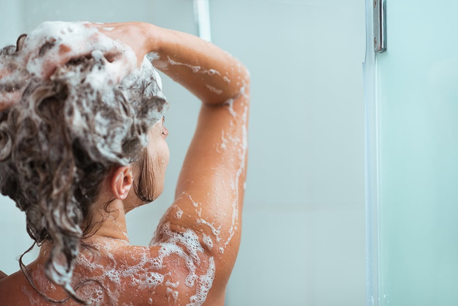 person in a shower