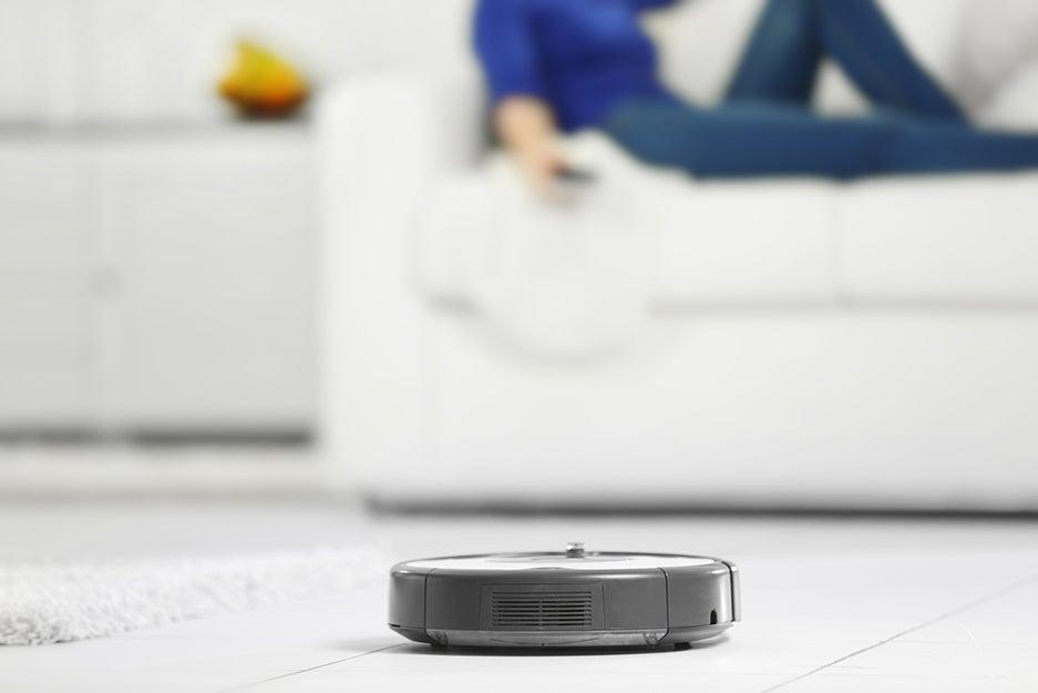 robot vacuum on the floor