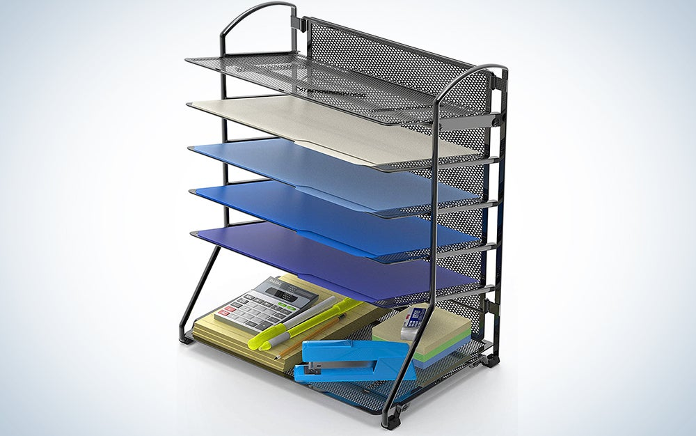 SimpleHouseware 6 Trays Desktop Document Letter Tray Organizer