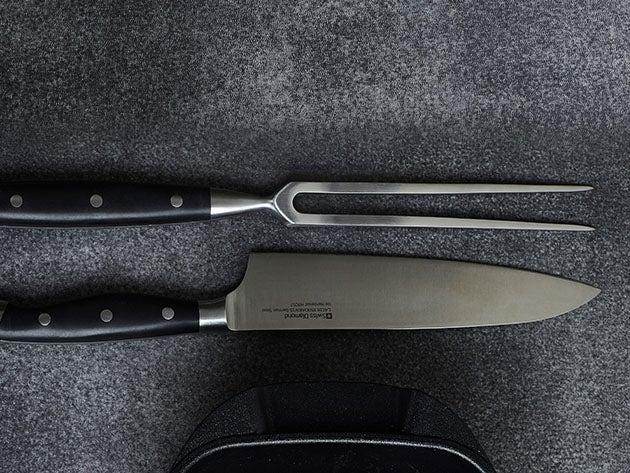 Swiss Diamond® Carving Knife & Fork Set