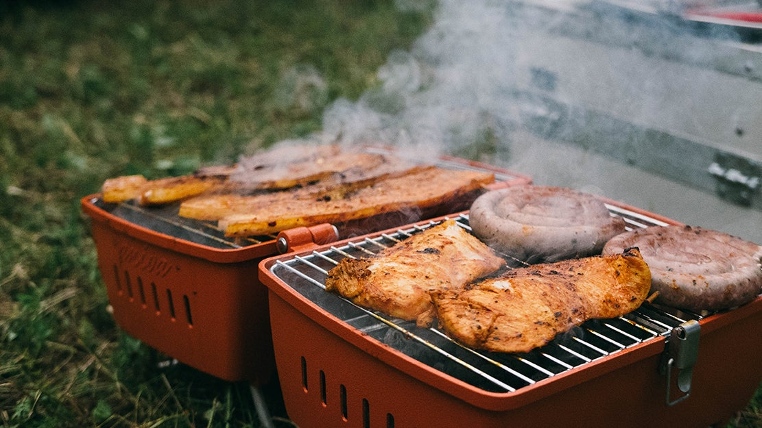 food grilling outdoors
