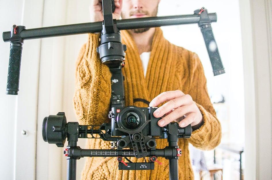 camera in a stabilizer