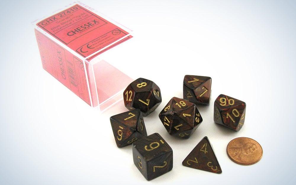 Chessex Leaf Polyhedral Dice Set