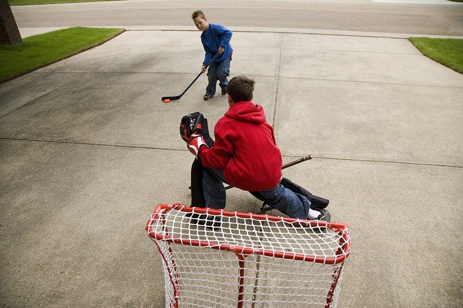 backyard hockey gear