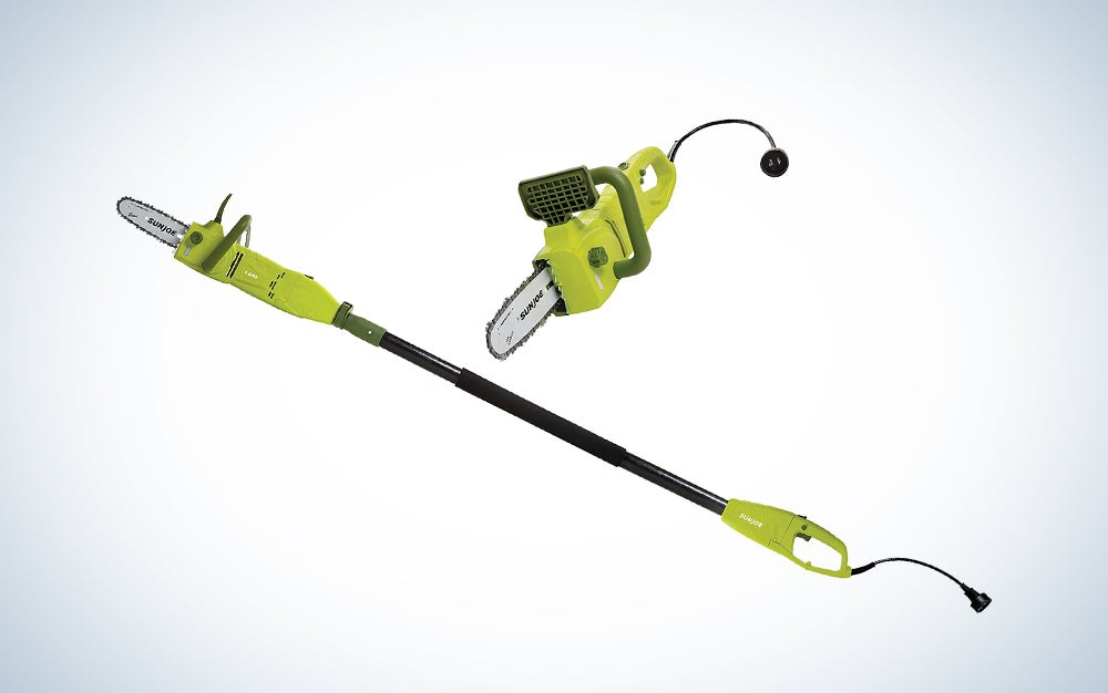 Sun Joe SWJ800E 8-Inch 6.5-Amp Telescoping Electric Pole Chain Saw with Automatic Chain Lubrication System