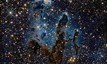 A new view of the Pillars of Creation gives further clues to its gassy demise