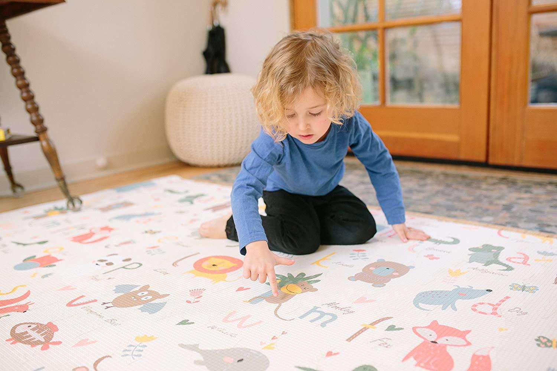 kid on a mat