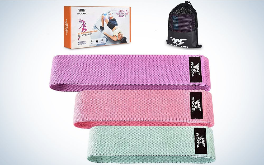WOOSL Resistance Bands Loop Exercise Booty Bands - Non-Slip Design for Glute and Hip Exercise, 3 Resistance Levels Workout Bands for Yoga