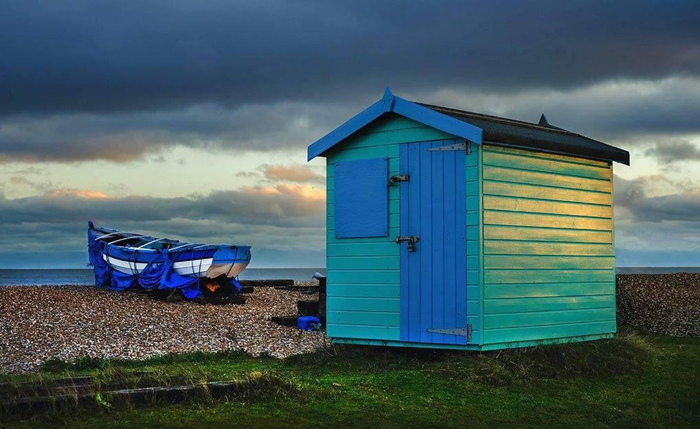 shed on a beach
