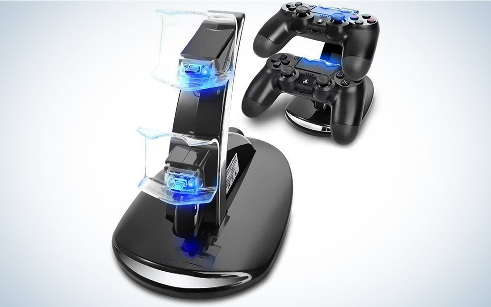 PS4 Controller Charger, PS4 Charger YCCTEAM 2 Hours Fast Charging Stand 5V 1A PS4 Charger Dock Holder for PS4/ PS4 Slim/ PS4 Pro Wireless Controller
