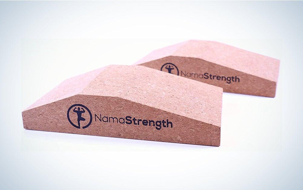 NamaStrength Yoga Wrist Support and Calf Raise Block