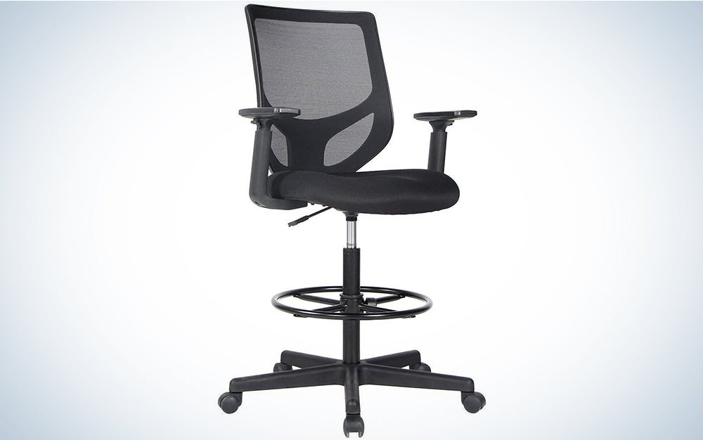 Drafting Chair Tall Office Chair for Standing Desk Drafting Mesh Table Chair with Foot Ring