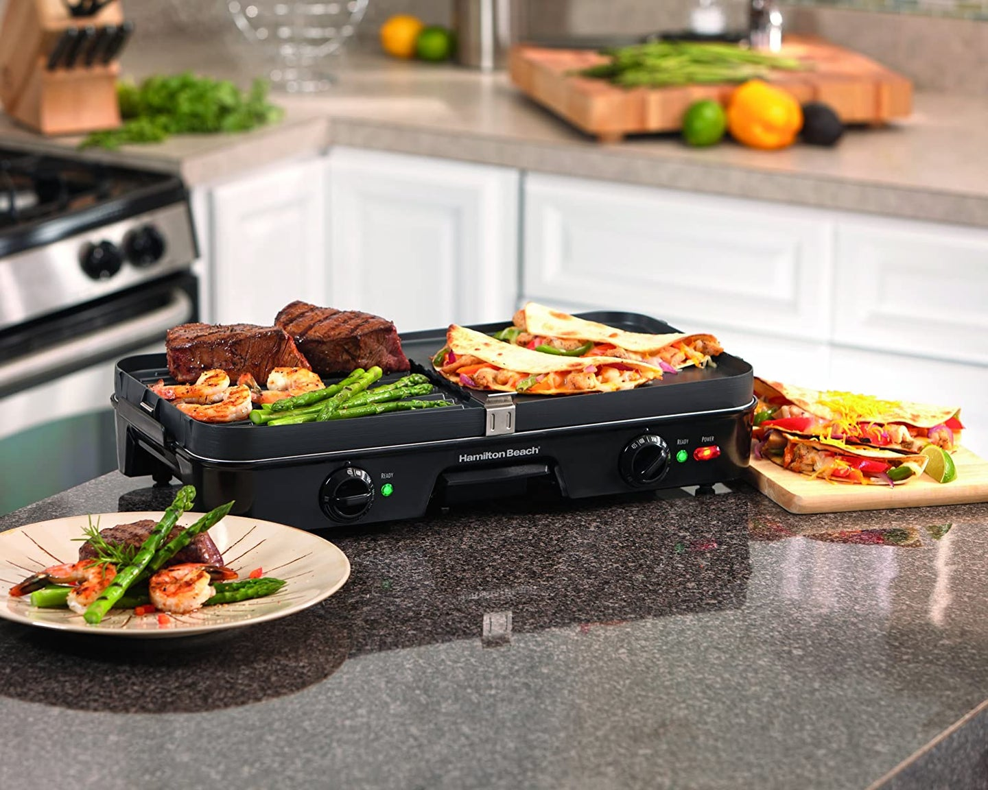 griddle on a countertop