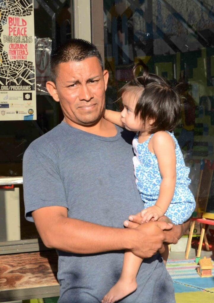 a U.S. asylum seeker from Honduras, and his daughter