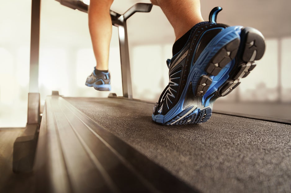 person on treadmill