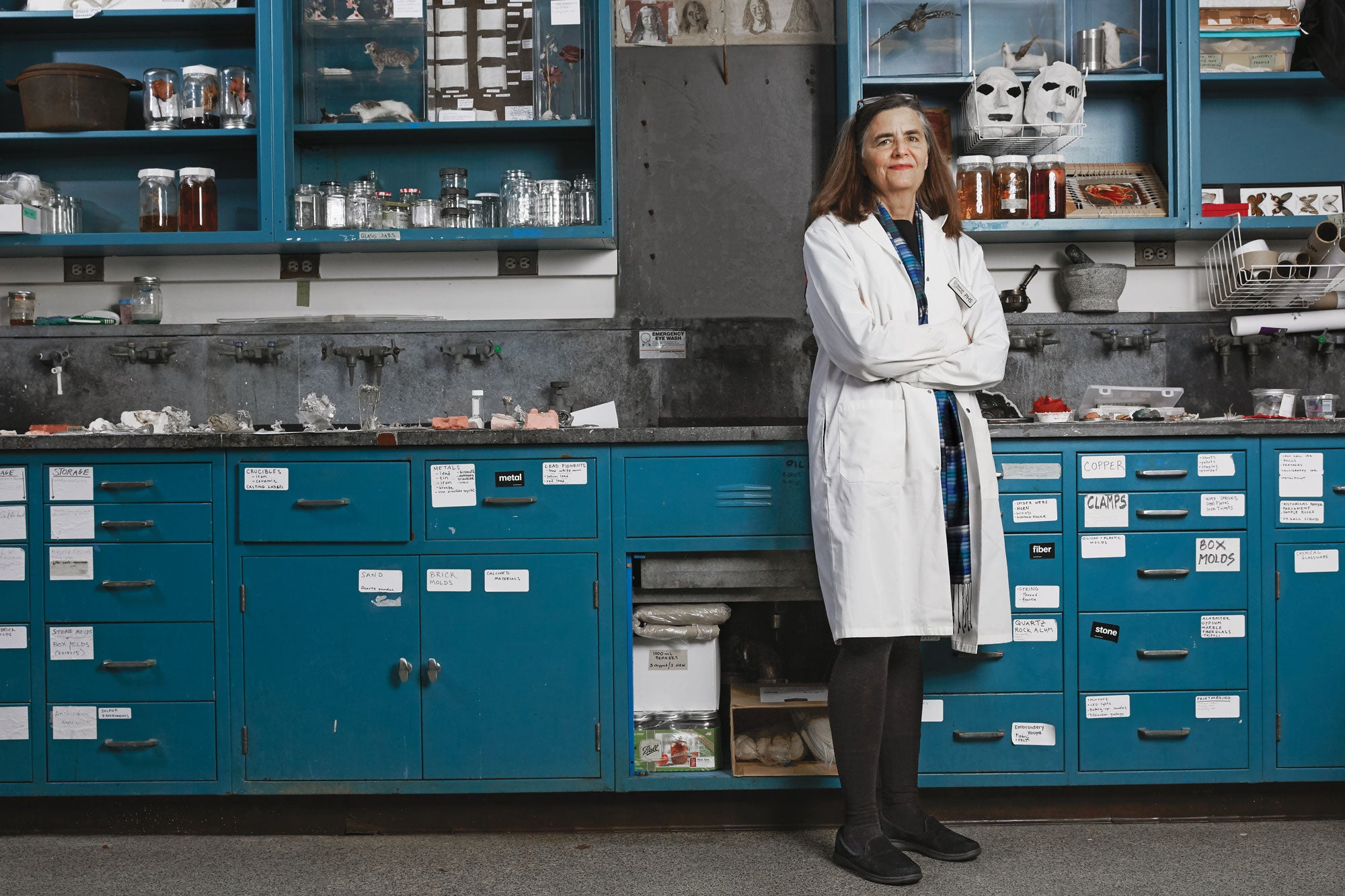 Pamela Smith in her lab