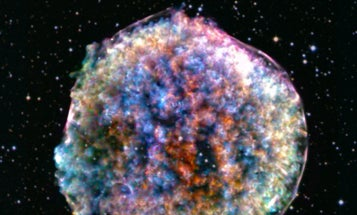 Ancient supernovas may have pierced moon rocks with star shrapnel