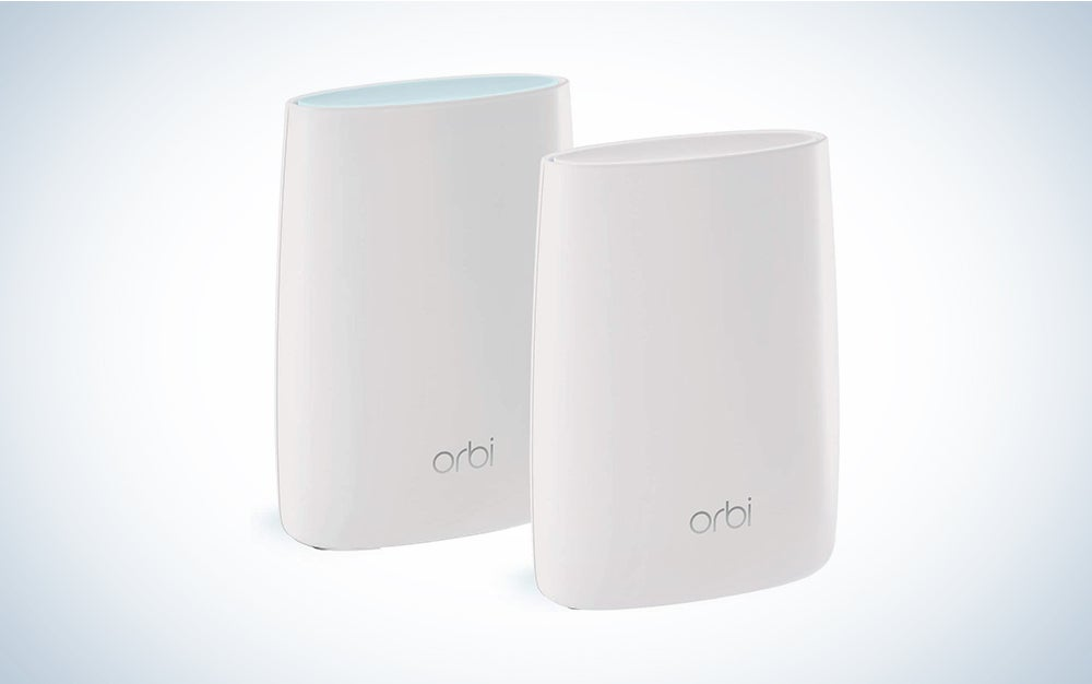NETGEAR Orbi Whole Home Mesh WiFi System (RBK50) | Router with 1 Satellite Extender | Coverage up to 4,000 sq. ft. and 25+ Device |MESH AC3000
