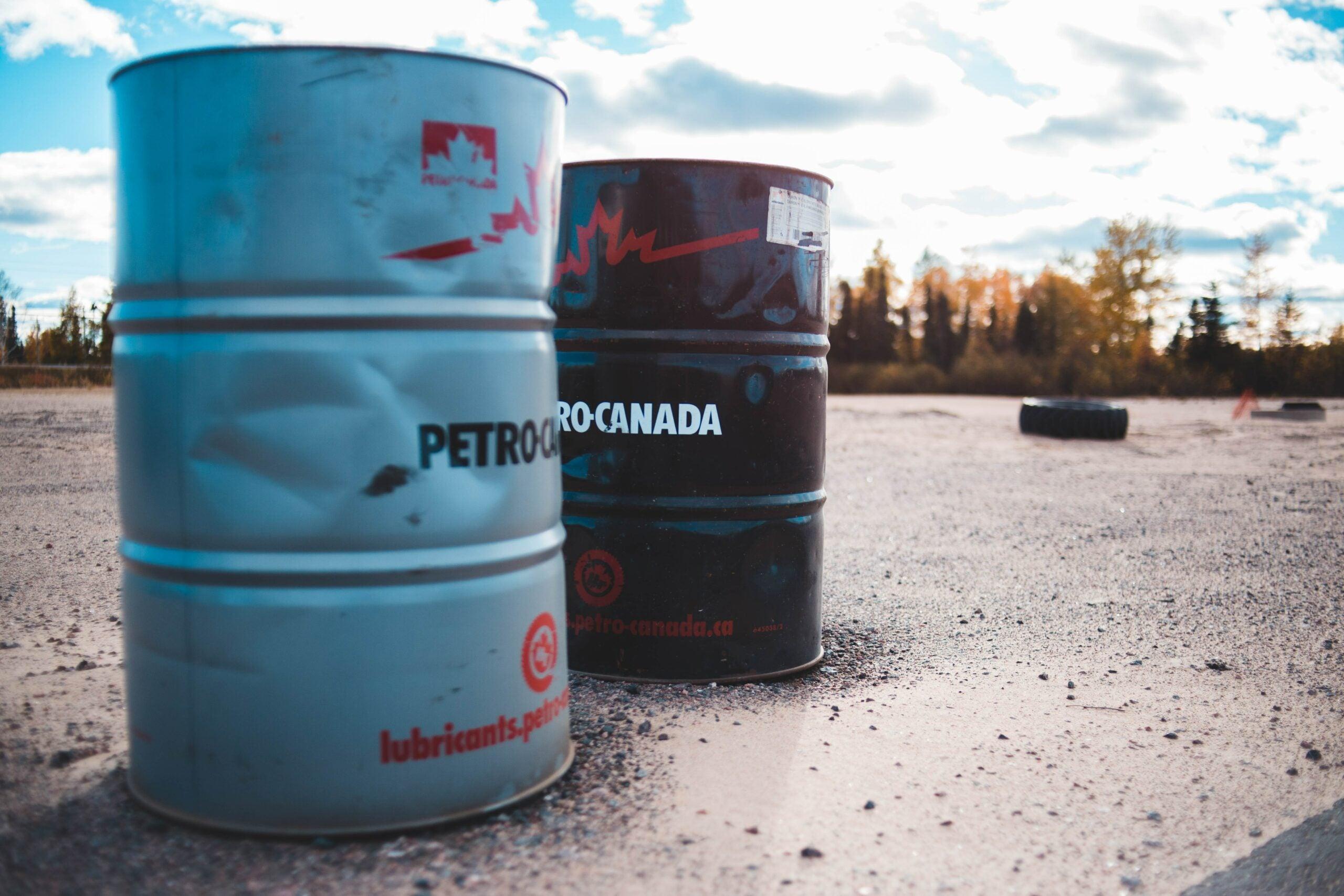 oil barrels petro canada