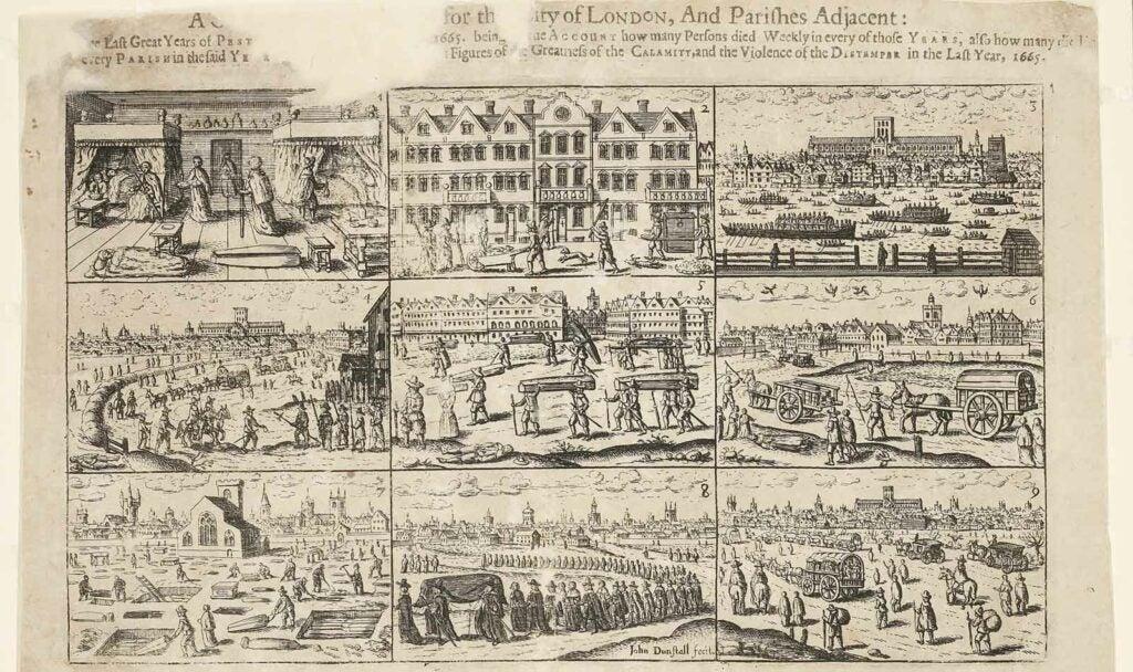 A 1666 engraving by John Dunstall