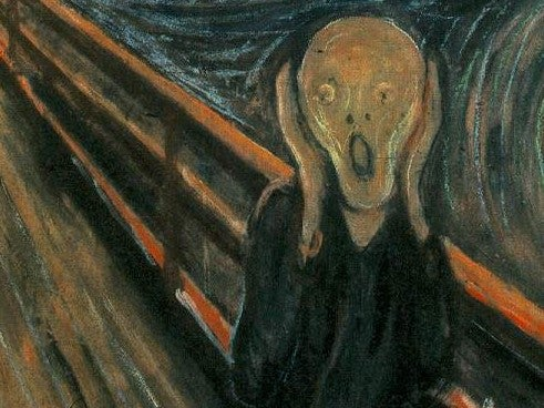 """A crop of Edvard Munch's painting """"The Scream"""""""