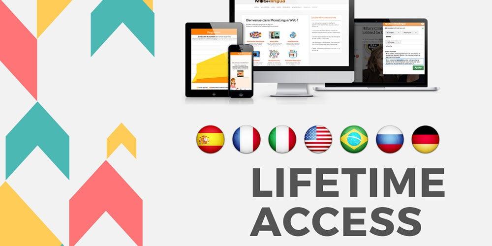 MosaLingua Language Learning Fluency Bundle: Lifetime Subscription