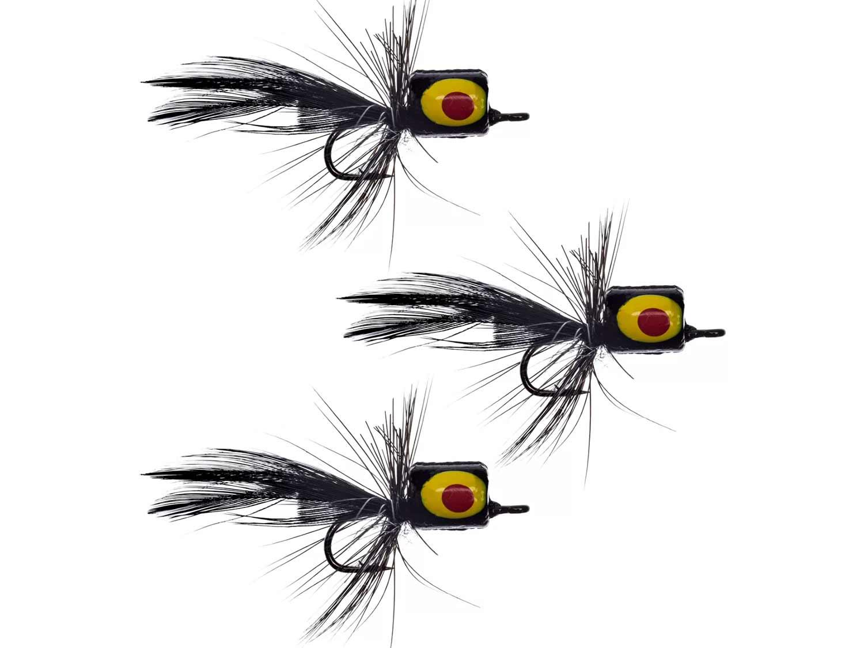 Panfish popper flies.