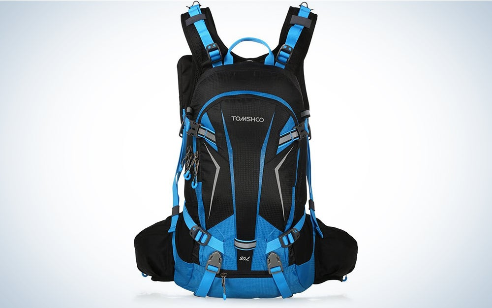 TOMSHOO 20L 30L Cycling Backpack Waterproof Bicycle Bike Backpack Bag Pack Outdoor Sports Riding Travel Camping Hiking Backpack Daypack with Rain Cover Helmet Cover